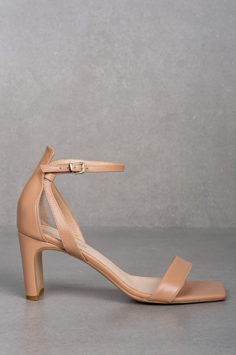 Sandały AURA skóra nude