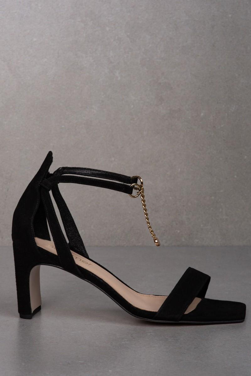 AURA II sandals black suede