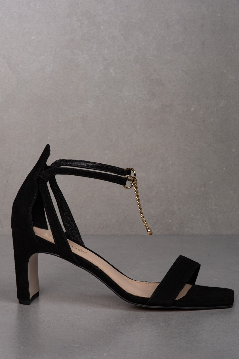 Sandały AURA II czarny zamsz