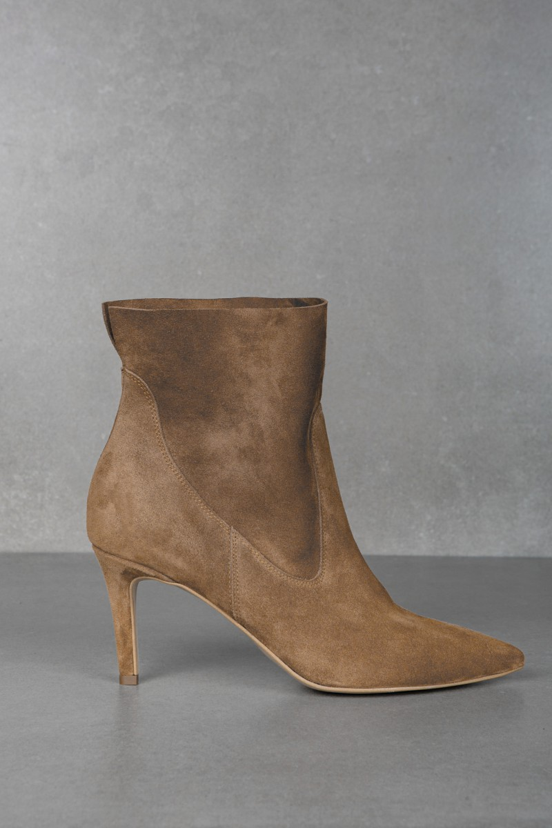 METIS cappucino velour ankle boots