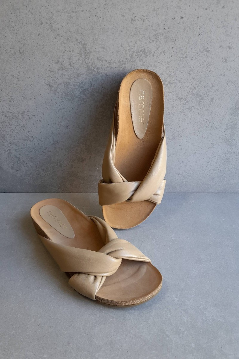 copy of ENYO black leather sandals