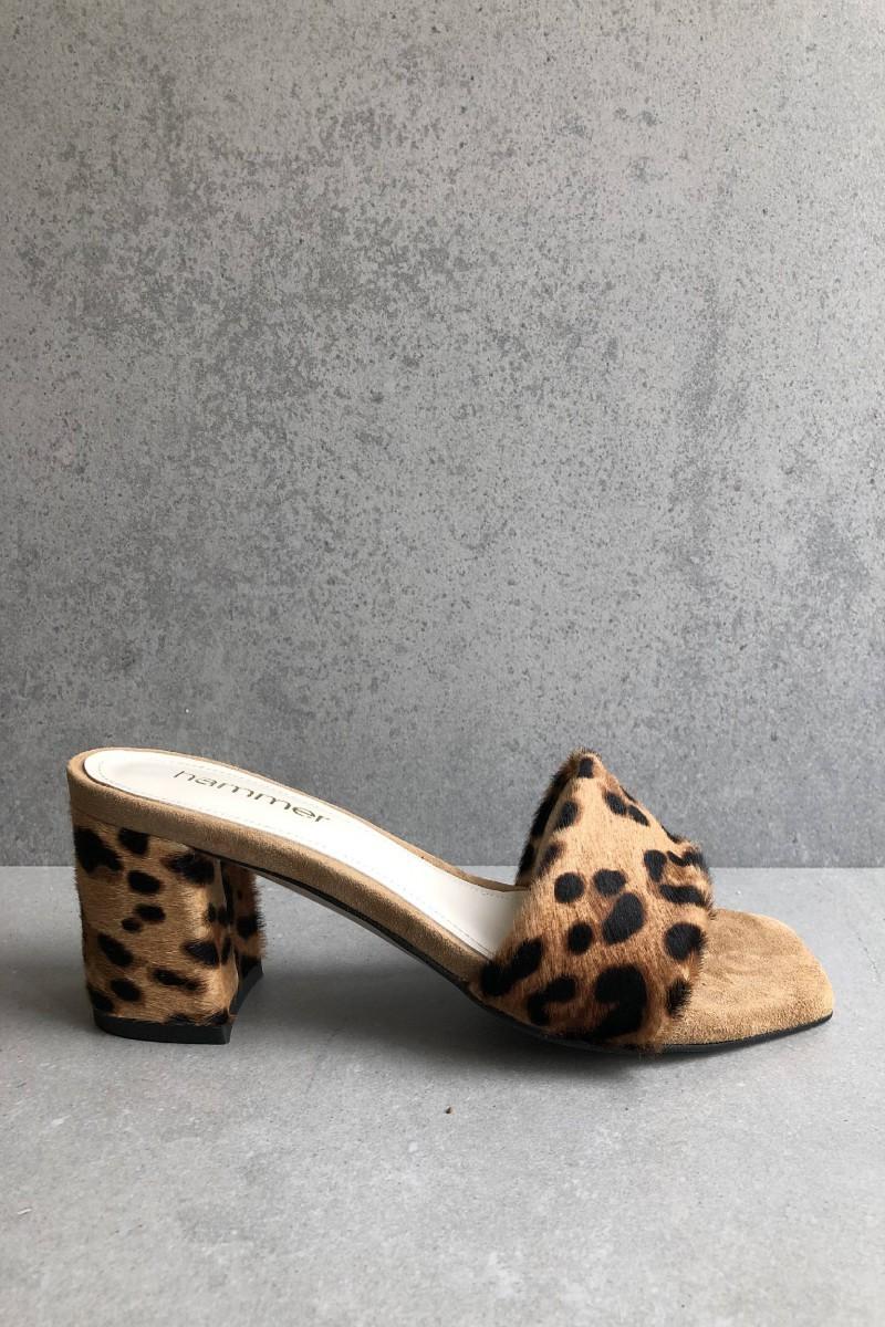 ERIS leopard leather mules