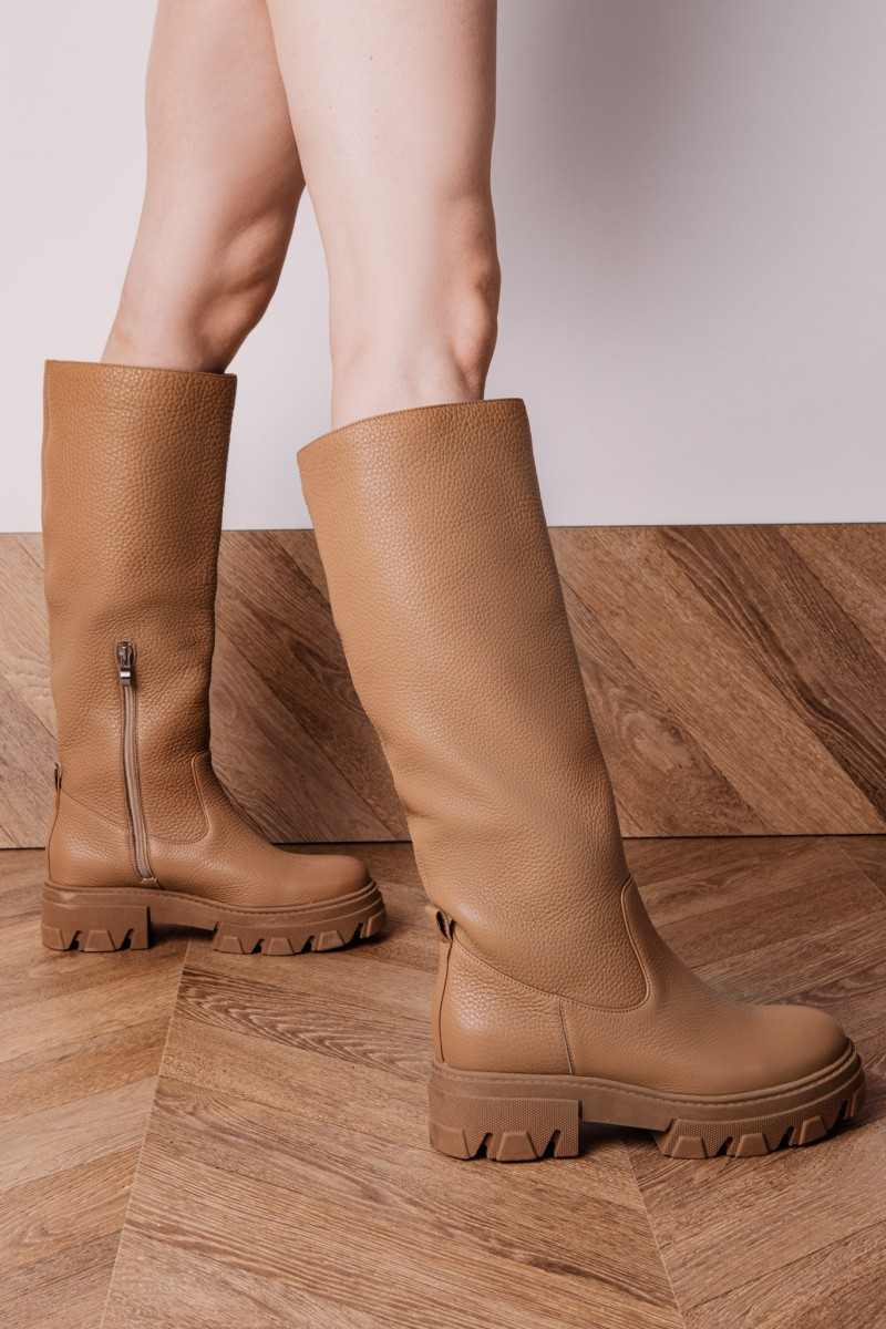 OSLO boots camel leather