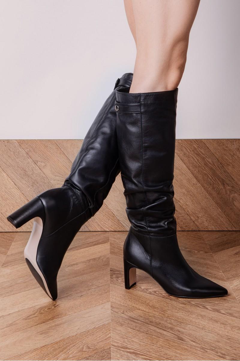 VENICE boots black leather