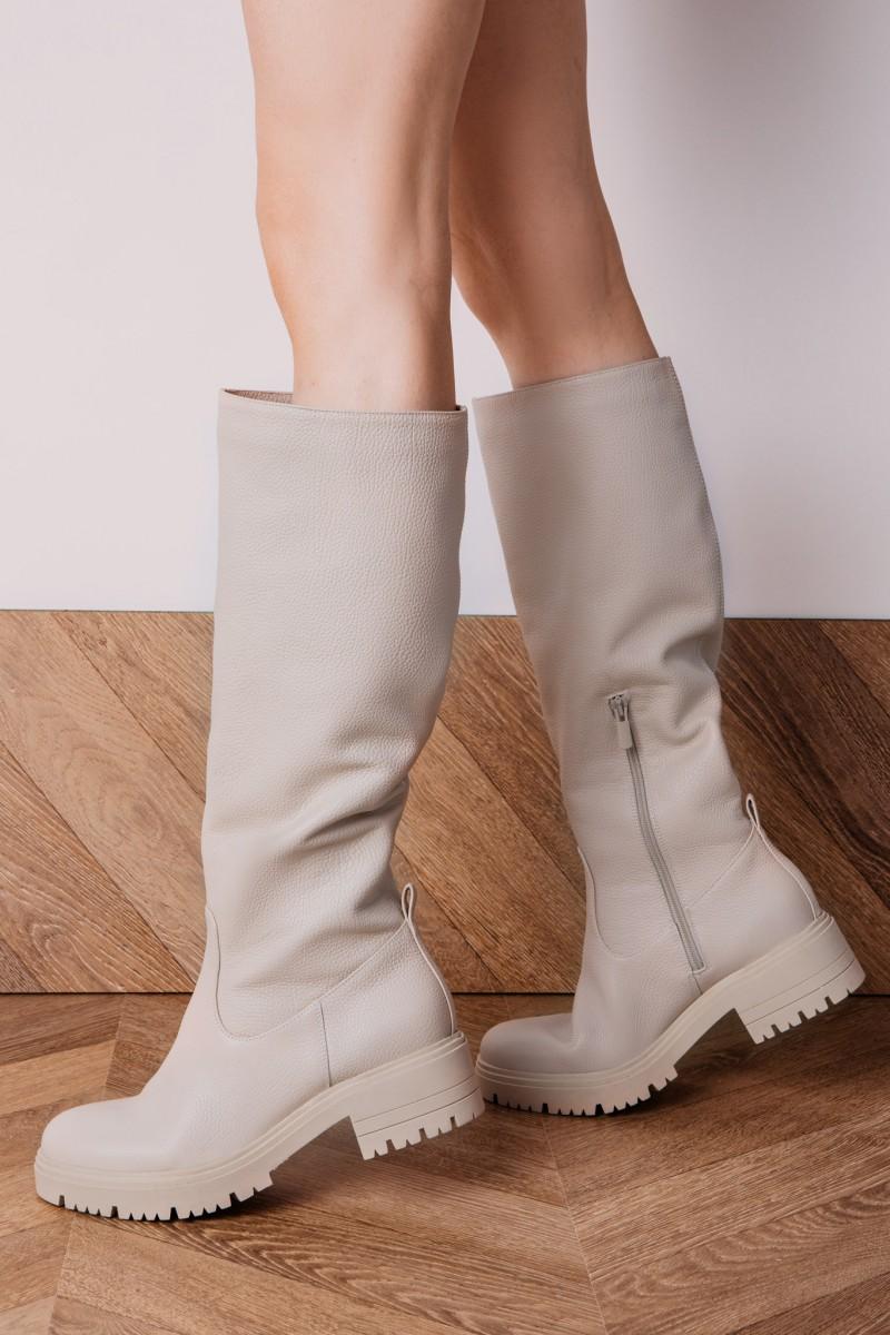OSLO boots ecru leather