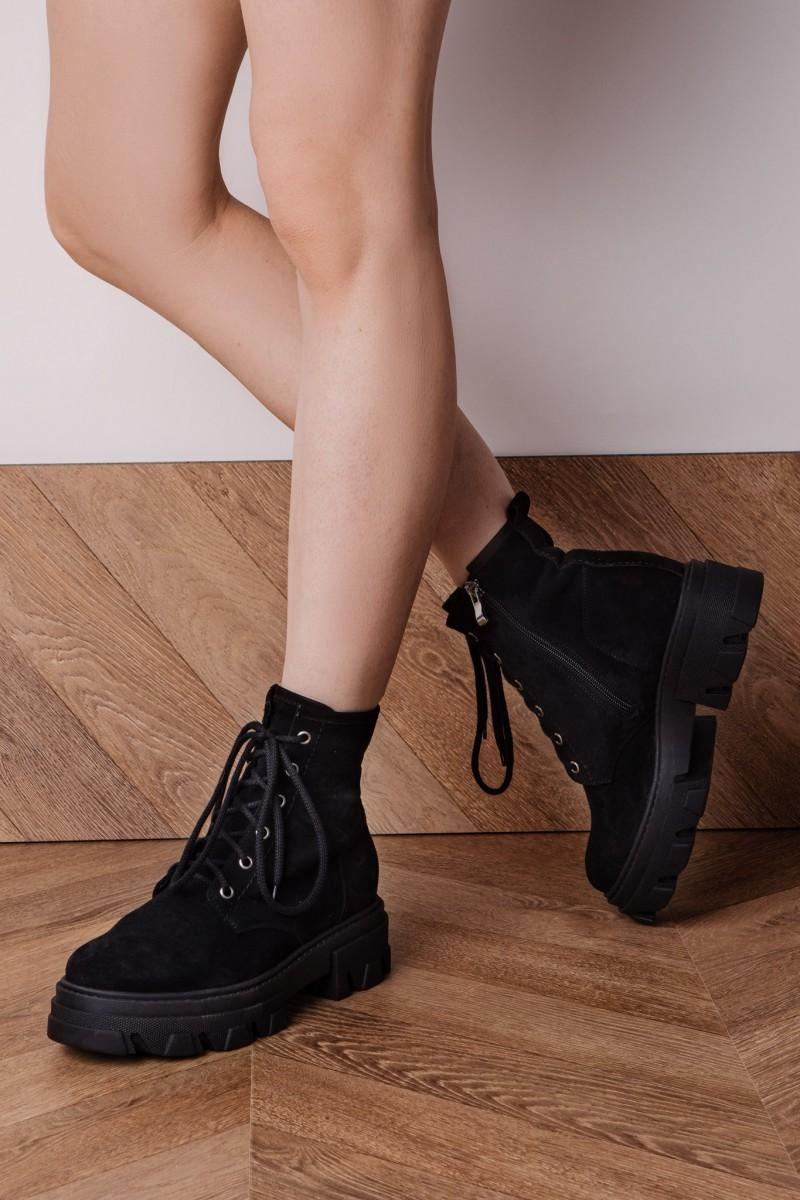 DETROIT ankle boots black velour