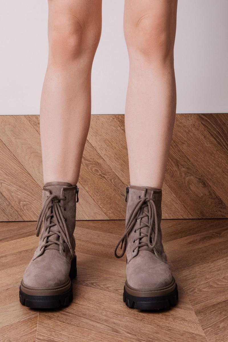 DETROIT ankle boots fango velour