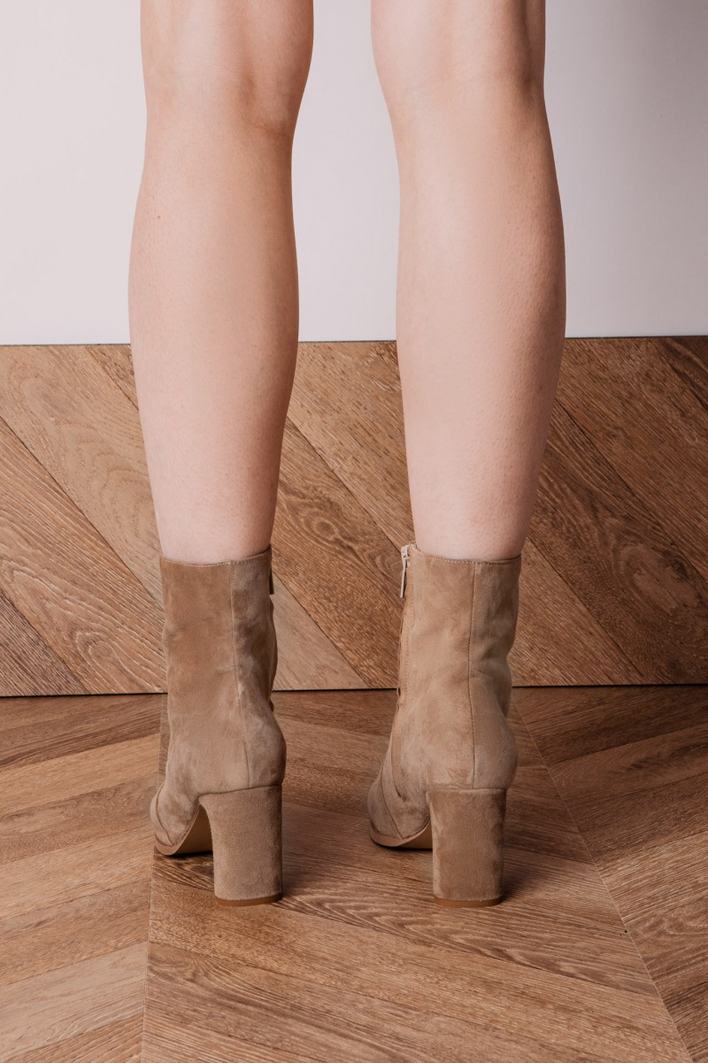 HAWANA II ankle boots camel suede